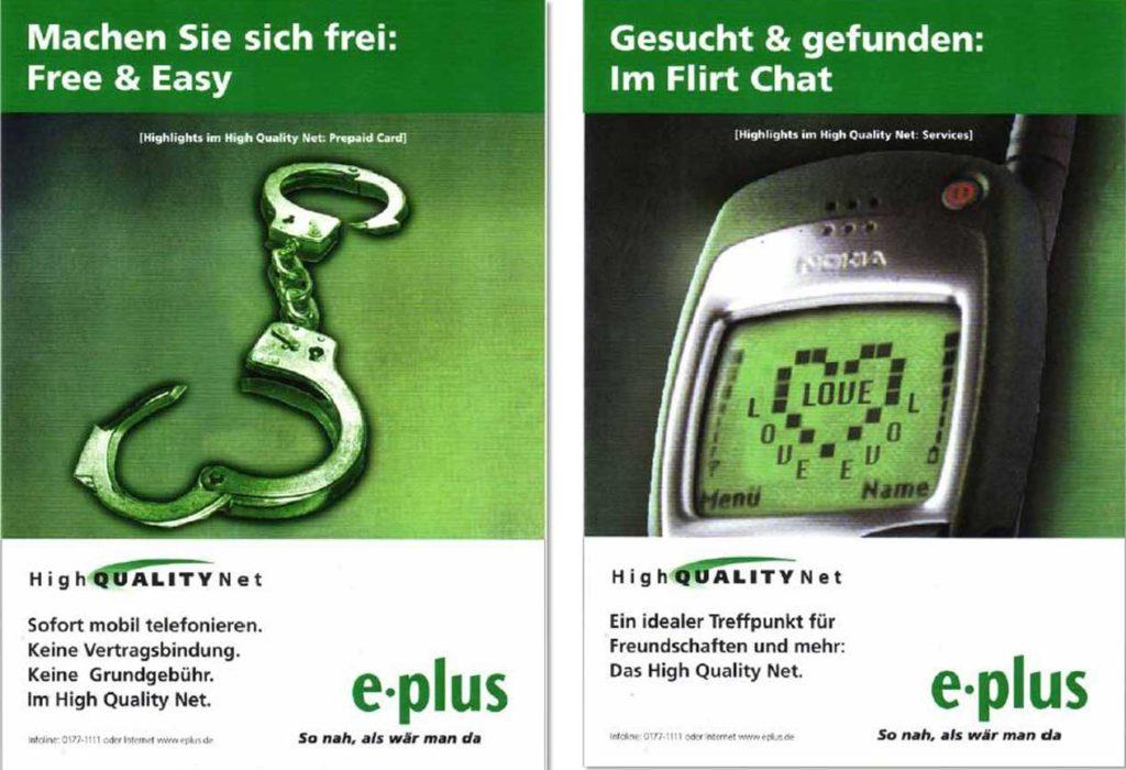 zwei e-Plus Anzeigen 1999