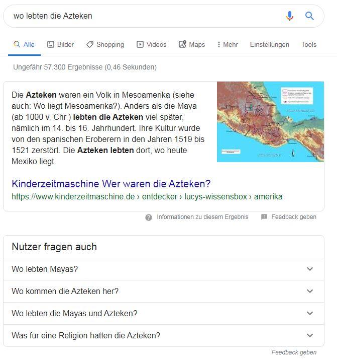 Feature snippet zu: wo lebten die Azteken?