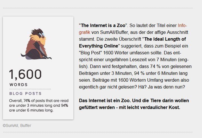 Das Internet ist ein Zoo - Info-Grafik
