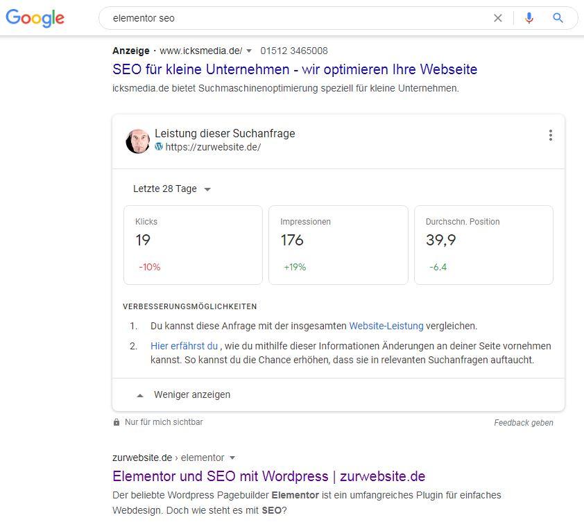 Personalisierte Suche in Google