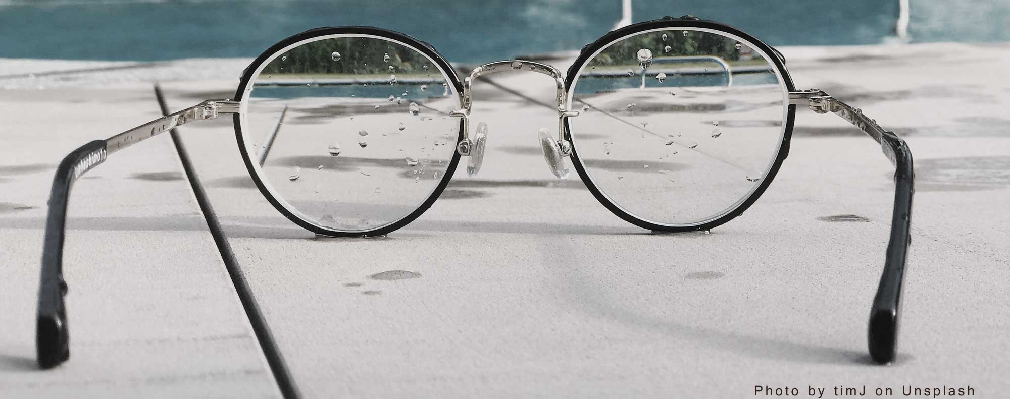 timJ on unsplash-glasses